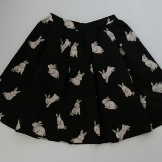フランシュリッペ(franche lippee)の美品*シルエットうさぎスカート(ひざ丈スカート)