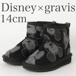 gravis - Disney×gravisムートンブーツ14cm
