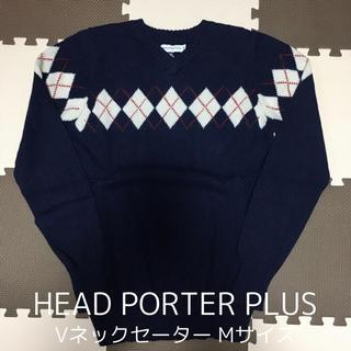 ヘッドポータープラス(HEAD PORTER +PLUS)のHEAD PORTER PLUS ヘッドポータープラス Vネックセーター M(ニット/セーター)