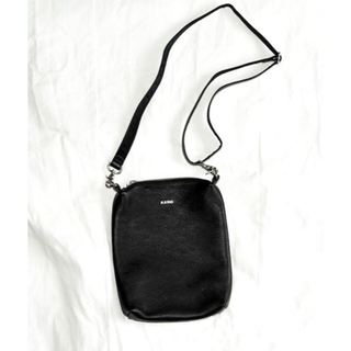 "KAIKO LEATHER SHOULDER BAG ""BLACK""(ショルダーバッグ)"