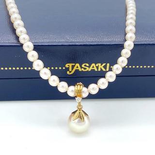 タサキ(TASAKI)の希少 タサキ 1P ダイヤ ゴールド 2WAY パール ネックレス MJ30(ネックレス)