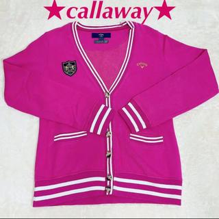 キャロウェイゴルフ(Callaway Golf)のキャロウェイ ピンクカーディガン L ゴルフ レディース callway(ウエア)