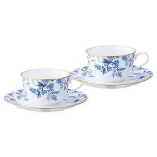 ノリタケ(Noritake)のノリタケ カップ&ソーサー ペア コーヒー 紅茶 ブルー ソレンティーノ カップ(食器)