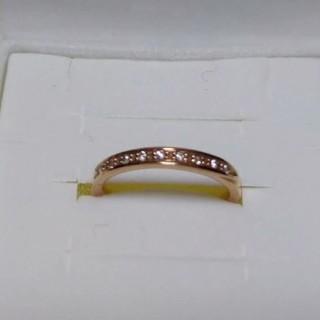 ヨンドシー(4℃)の4℃ ハーフエタニティリング ダイヤモンド(リング(指輪))