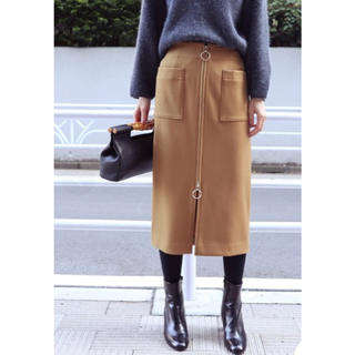 ノーブル(Noble)のTWダブルクロスフープジップタイトスカート(ひざ丈スカート)