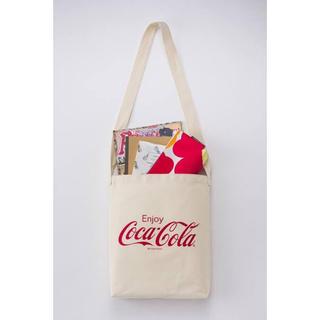 コカコーラ(コカ・コーラ)の【Popteen 2020年2月号付録】コカ・コーラ ロゴトートバッグ&ポーチD(トートバッグ)