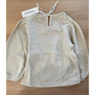 キャラメルベビー&チャイルド(Caramel baby&child )の新品 minimom バルーン袖ブラウス 3-4y(Tシャツ/カットソー)