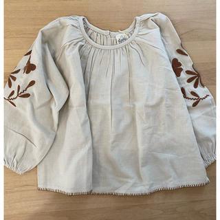 キャラメルベビー&チャイルド(Caramel baby&child )の新品 apolina 刺繍ブラウス 3-5Y(Tシャツ/カットソー)