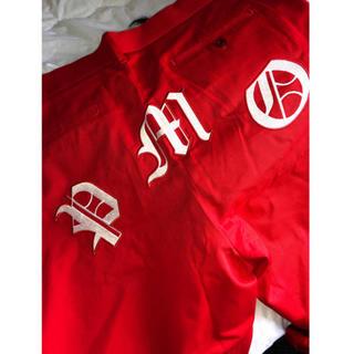 ピースマイナスワン(PEACEMINUSONE)のpeaceminusone work pants RED ワーク パンツ(ワークパンツ/カーゴパンツ)