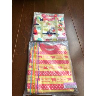 フェリシモ(FELISSIMO)の新品☆2枚セットsmallyスカート付きロンパース長袖90cm☆フェリシモ(ワンピース)