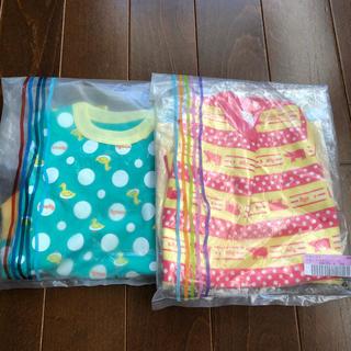 フェリシモ(FELISSIMO)の新品☆2枚セットsmallyスカート付きロンパース90cm☆フェリシモ(ワンピース)