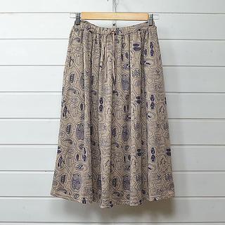 ミナペルホネン(mina perhonen)のマーブルシュッド 巣ごもりギャザースカート☆大人気早い者勝ち(ロングスカート)