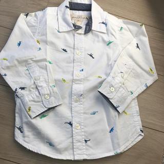 エイチアンドエム(H&M)のH&M 恐竜柄長袖シャツ90 男の子(ブラウス)