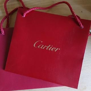 カルティエ(Cartier)のカルティエ  Cartier  紙袋  ショップバッグ  2枚セット(ショップ袋)