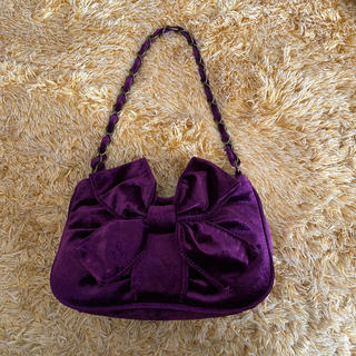 MK KLEIN+ ハンドバッグ ベロア 紫