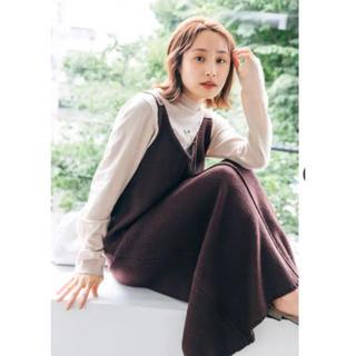 ハコ(haco!)のニットジャンスカ、ロンTセット 高橋愛さんコラボ(ロングワンピース/マキシワンピース)