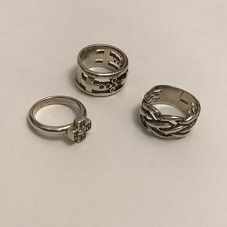 シルバー リング 指輪 3点セット まとめ売り AB6(リング(指輪))