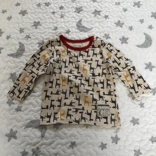 フタフタ(futafuta)のfutafuta キリン柄 ロングTシャツ 80(Tシャツ)