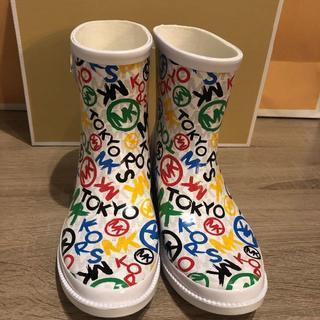 マイケルコース(Michael Kors)の☆マイケルコース 東京オリンピック×MKコラボ限定レインブーツ 6M 23cm☆(レインブーツ/長靴)