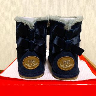 ミキハウス(mikihouse)のミキハウス ムートンブーツ 女の子 15センチ(ブーツ)