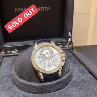 ハリーウィンストン(HARRY WINSTON)のハリーウィンストン オーシャン バイレトログラード 純正ダイヤ 19年ギャラ(腕時計(アナログ))