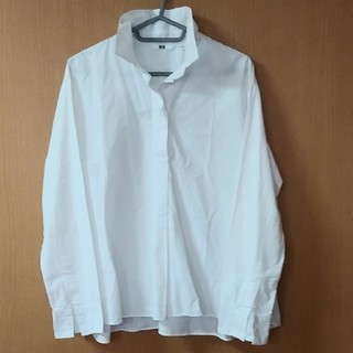 ユニクロ(UNIQLO)のユニクロ Aラインシャツ 白(シャツ/ブラウス(長袖/七分))