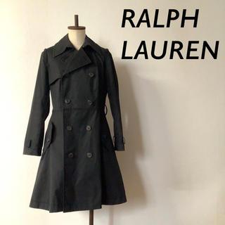 ラルフローレン(Ralph Lauren)のRALPH LAUREN コットン トレンチコート ブラック(トレンチコート)