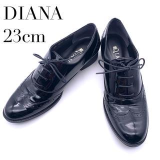 DIANA - 【美品】DIANA レースアップシューズ エナメル レディース 23cm