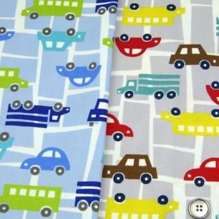 はたらく車と道路 オーダー受付 レッスンバッグ 上履き袋 体操着袋 巾着 給食袋(バッグ/レッスンバッグ)