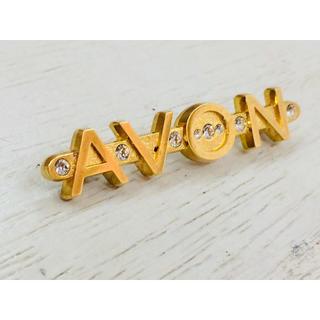 エイボン(AVON)のAVON エイボン ゴールドカラー ブローチ。(ブローチ/コサージュ)