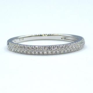★一文字★ K18WG  0.20ct ダイヤモンド  リング(リング(指輪))