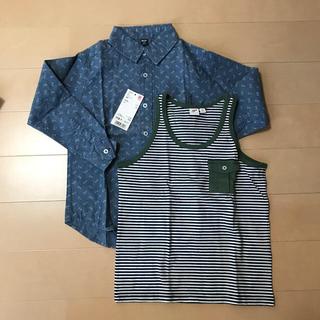 ユニクロ(UNIQLO)のユニクロ 2点 シャツ ランニング 110(Tシャツ/カットソー)