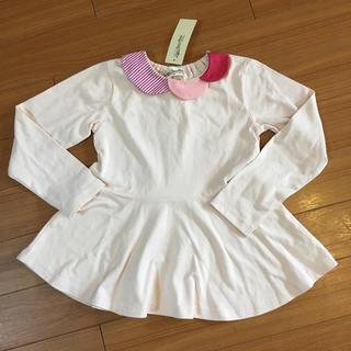 ラブアンドピースアンドマネー(Love&Peace&Money)の新品 未使用 ラブアンドピースアンドマネー 長袖Tシャツ 130 ピンク(Tシャツ/カットソー)