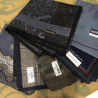クリスチャンディオール(Christian Dior)のハンカチ 6枚組 紳士用 メンズ ブランド物(ハンカチ/ポケットチーフ)