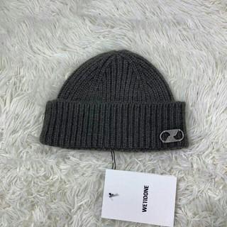 ピースマイナスワン(PEACEMINUSONE)のWE11DONE グレー ニット帽 ONESIZE G-DRAGON(ニット帽/ビーニー)