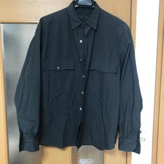値段交渉可 ポータークラシック roll up stripe shirts 黒(シャツ)