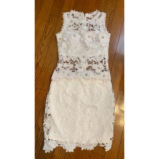 デイジーストア(dazzy store)のDazzy store  キャバドレス セットアップ  ホワイト (ナイトドレス)