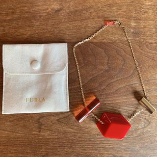 フルラ(Furla)の新品 FURLA フルラ ネックレス・ペンダント - ゴールド系 × レッド系 (ネックレス)