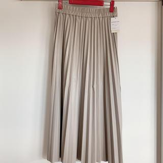 グローブ(grove)の新品 グローブ フェイクレザープリーツスカート(ロングスカート)