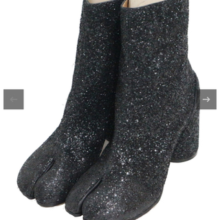 アパルトモンドゥーズィエムクラス(L'Appartement DEUXIEME CLASSE)の新品Maison Margiela22 ラメ足袋ブーツ ブラック 38(ブーツ)