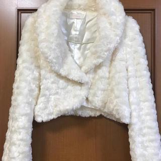 リズリサ(LIZ LISA)のリズリザ ファージャケット ホワイト F(毛皮/ファーコート)