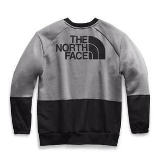 ザノースフェイス(THE NORTH FACE)の日本未発売 ノースフェイス L 切り替え クルーネック スウェット グレー(スウェット)