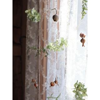 紫陽花農家さんの秋色紫陽花○ゆらゆら揺れる秋色紫陽花と木の実のmobile。○(ドライフラワー)