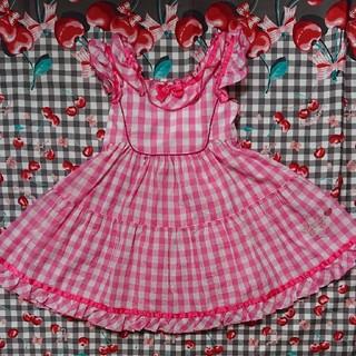 シャーリーテンプル(Shirley Temple)のシャーリーテンプル サンドレス ジャンパースカート 100(ワンピース)