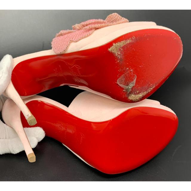 Christian Louboutin(クリスチャンルブタン)のChristian Louboutin☆サンダル コサージュ スエード ピンク レディースの靴/シューズ(サンダル)の商品写真