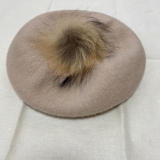 アングリッド(Ungrid)のファー付きベレー帽(ハンチング/ベレー帽)