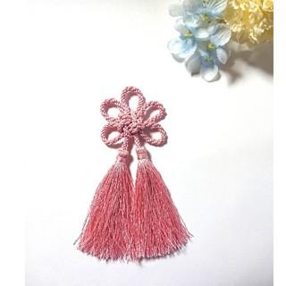 髪飾り 梅結び(ライトピンク)  卒業式 成人式 七五三(ヘアピン)