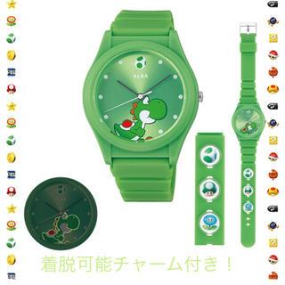 アルバ(ALBA)のスーパーマリオ 腕時計 セイコー アルバ ヨッシー クウォーツ チャーム付き(腕時計(アナログ))