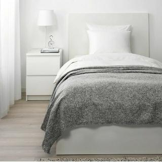 イケア(IKEA)のIKEA  INGRUN イングルン ブランケット  ひざ掛け ベッドカバー(シーツ/カバー)