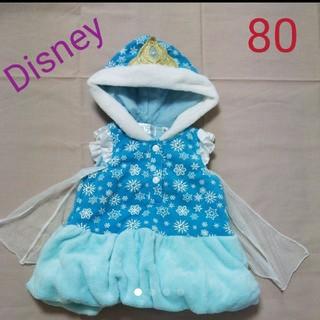 Disney - (80)アナ雪 エルサ なりきりベスト ワンピース